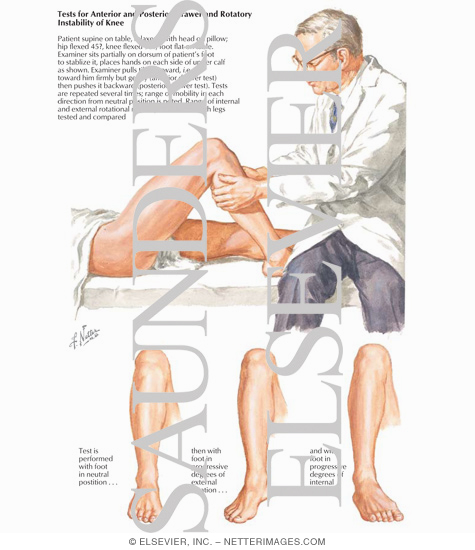 Tests For Anterior And Posterior Drawer And Rotatory Instability Of Knee