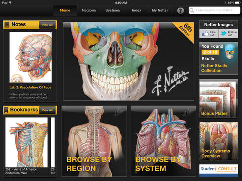 Netter's Anatomy Atlas app for iPad